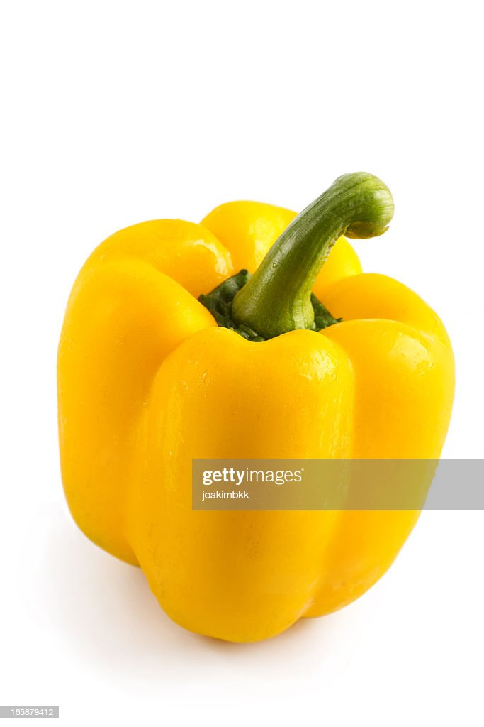 Yellow bell pepper with clipping path