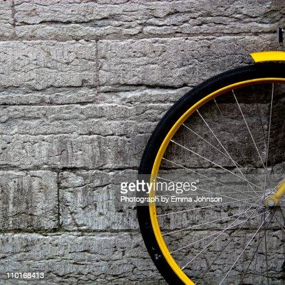 Yellow bicycle : Stock Photo