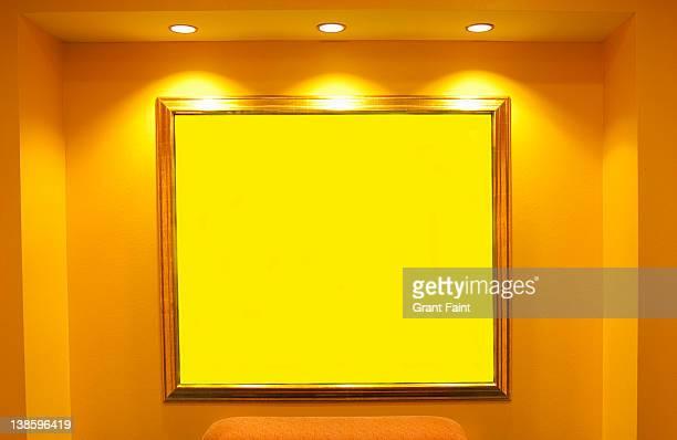 Yellow blank painting.