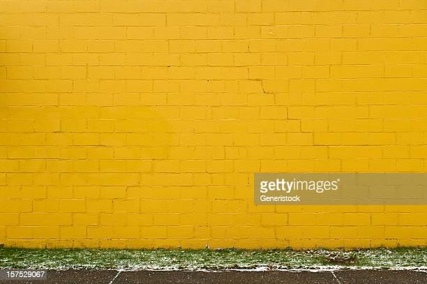 Jaune mur de briques