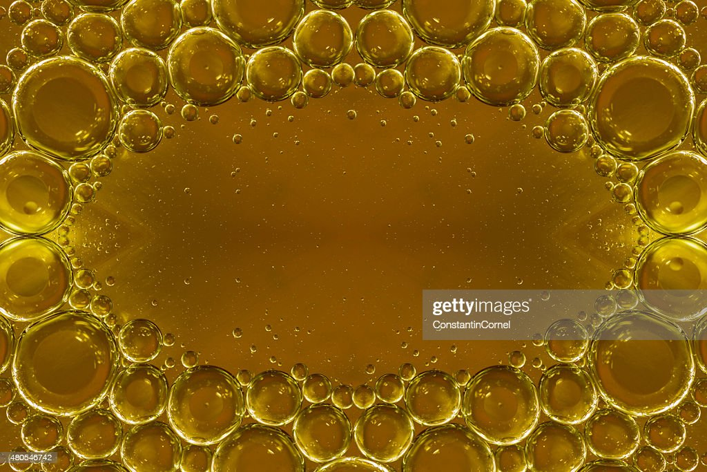 Yellow bubbles background : Stock Photo