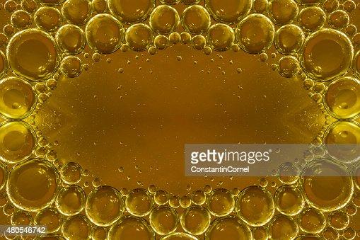 Burbujas de fondo amarillo : Foto de stock