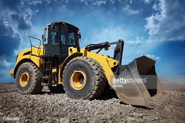 Yellow Bulldozer at Construction Site
