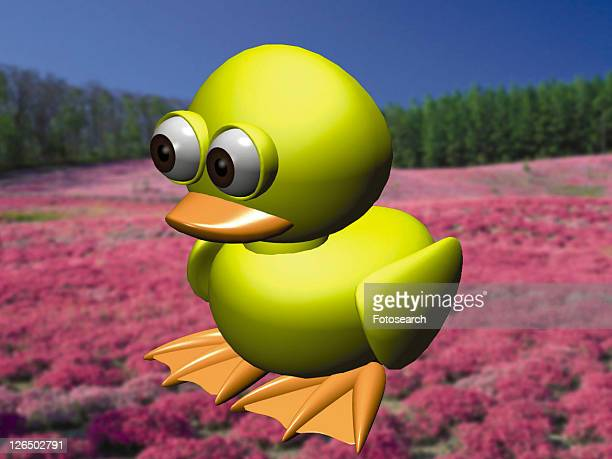3D, yellow, cartoon, cute, animal