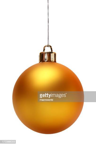 Yellow Christmas Ball (Isolated)