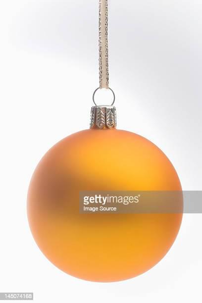 Yellow christmas bauble
