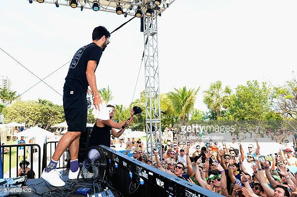 Yellow Claw performs live at SiriusXM Celebrates 10th Anniversary Of The SiriusXM Music Lounge At 1 Hotel South Beach Leading Up To Ultra Music...