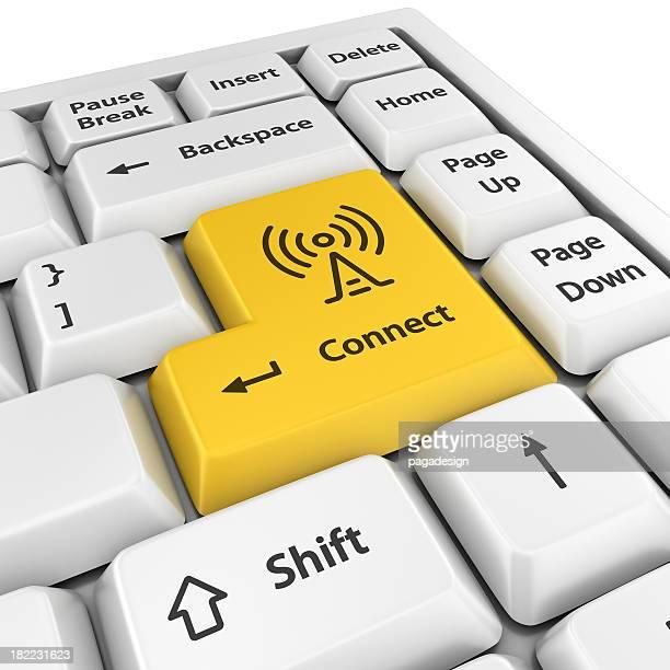 黄色接続ボタンを入力してください。