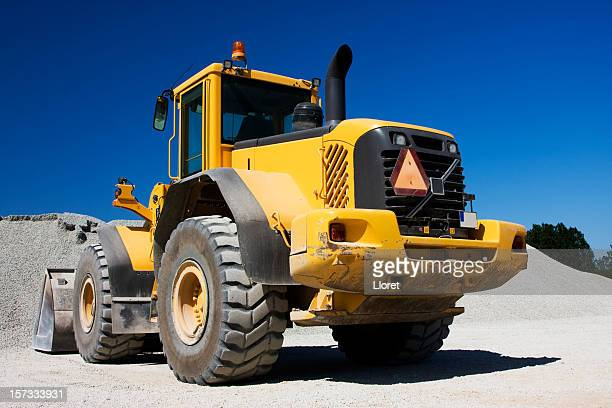 Yellow construction vehicle