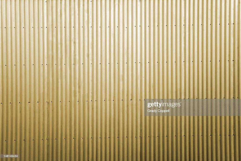 Yellow corrugated iron