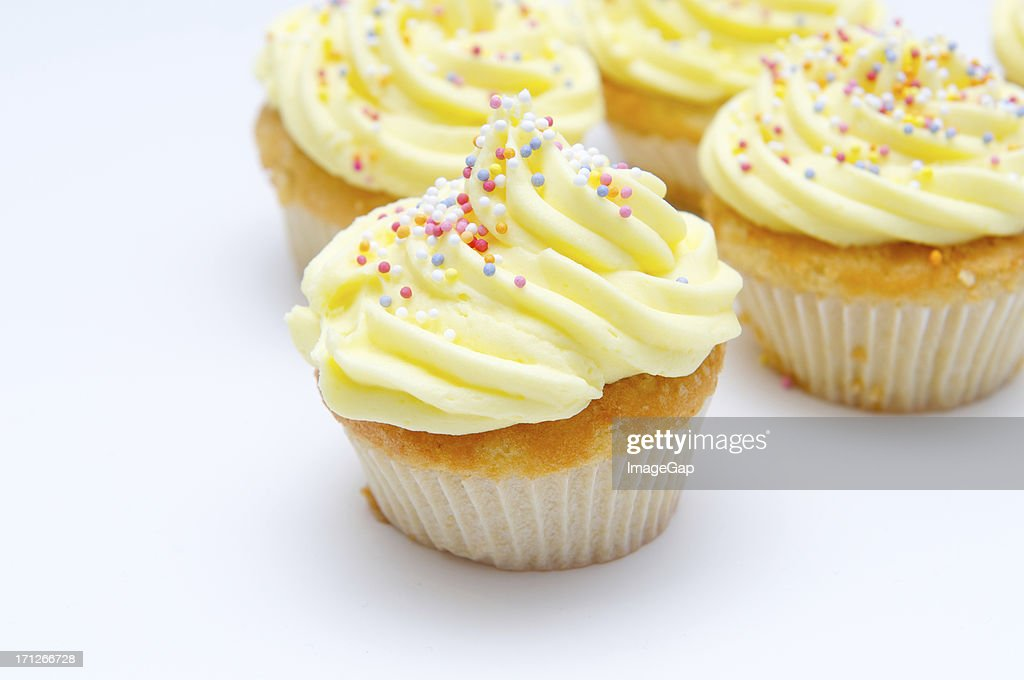 Yellow cup cakes : Stock Photo