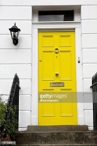 Yellow Door on Townhouse
