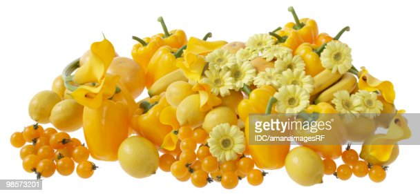 Yellow flowers and vegetables