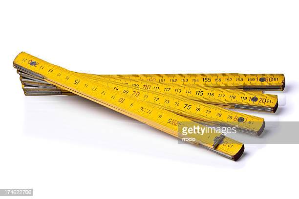 Yellow folding ruler