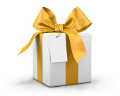 yellow gift box 3d  render