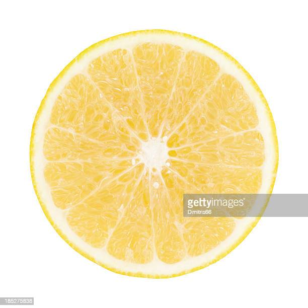 Yellow Grapefruit Portion On White