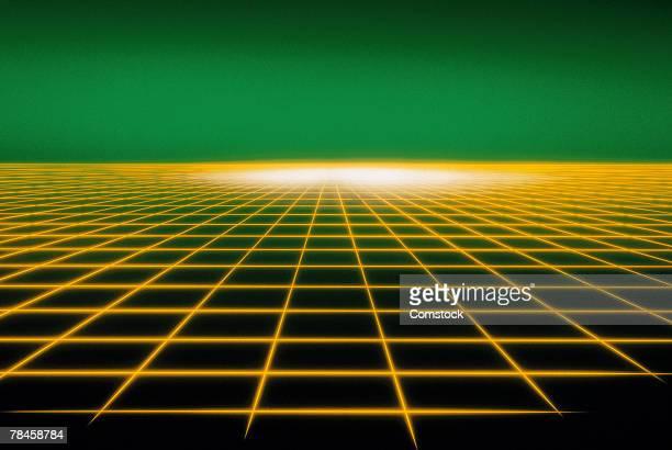 Yellow grid graphic
