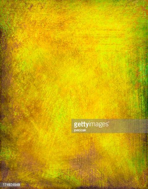 Yellow Grunge Painted Background