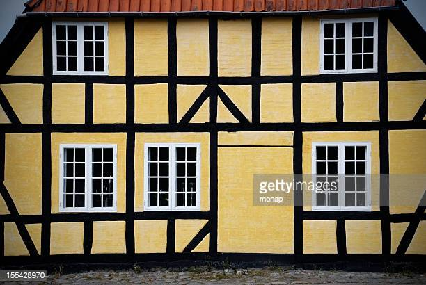 Yellow Half-Timbered facade