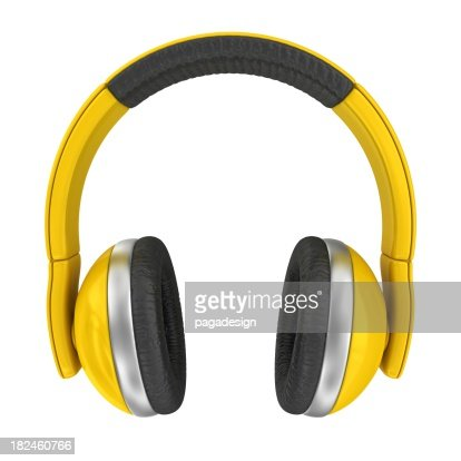yellow headphones