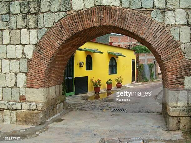 Gelbe Haus in Oaxaca, Mexiko