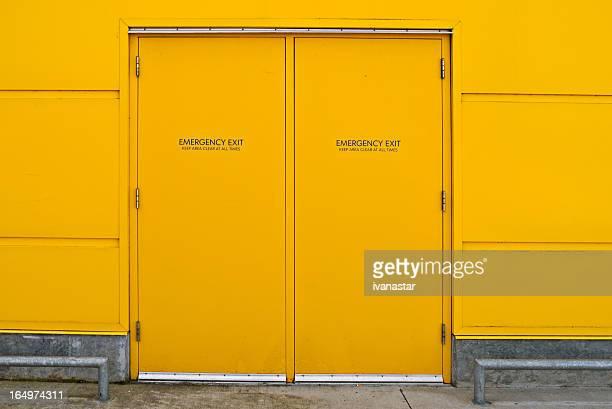 Gelbe Industrial Utility-Tür