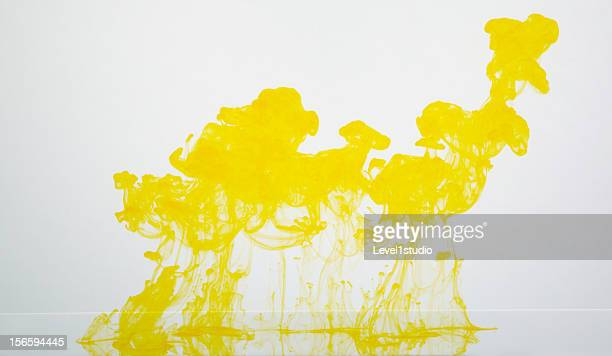Yellow ink dropping