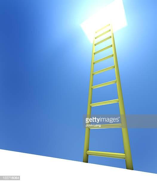 はしごにつながるライトイエロー