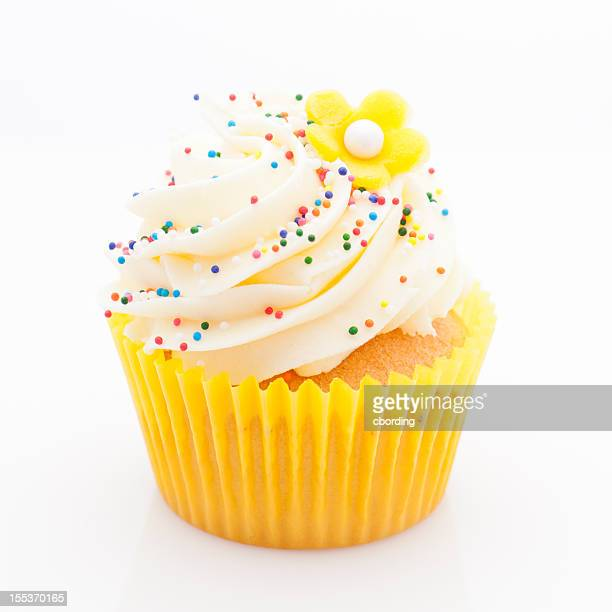 Yellow lemon cupcake