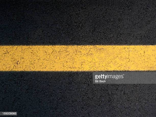 Yellow line in the road