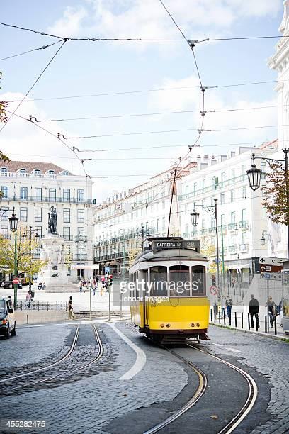 Yellow Lisbon tram