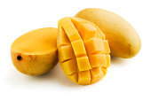 Yellow Mangoes on White