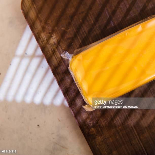 Yellow marzipan.