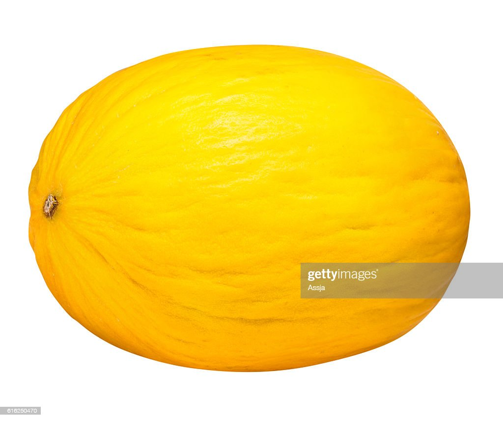 Yellow melon isolated on white background with clipping path : Foto de stock
