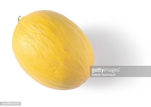 Yellow melon, white background