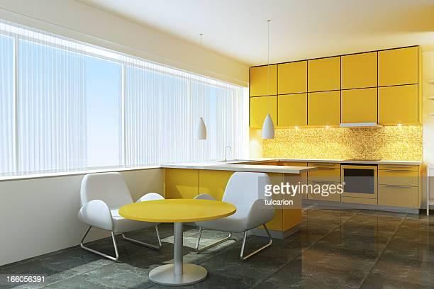 Yellow Minimalist Kitchen