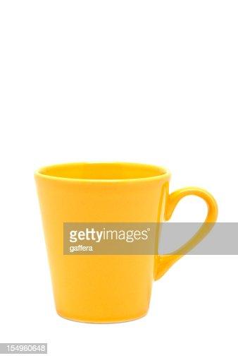 yellow mug (clipping path)