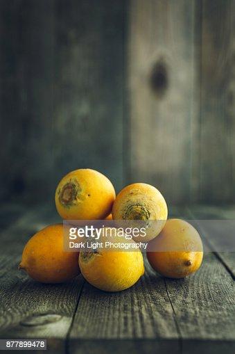Yellow organic turnips : Stock Photo