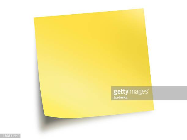 Yellow paper blank