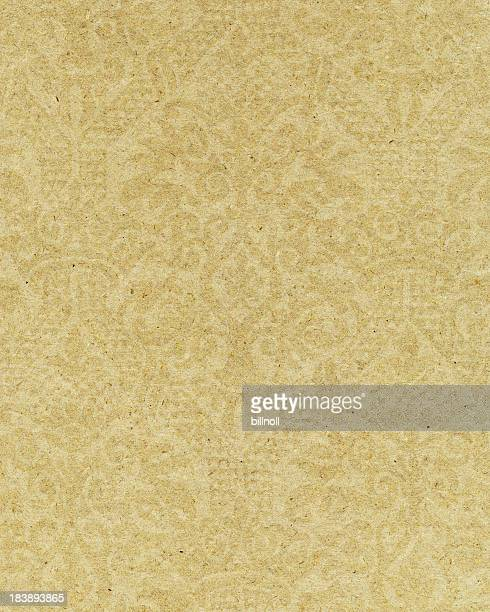 yellow paper with ornamental pattern