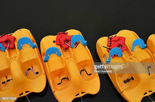 Yellow peddle boats