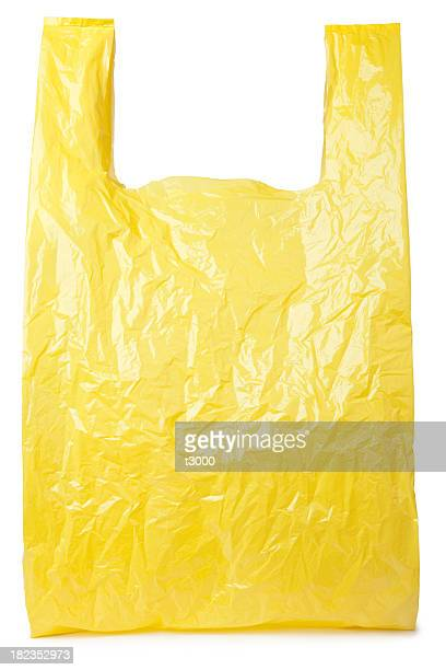 Yellow plastic bag