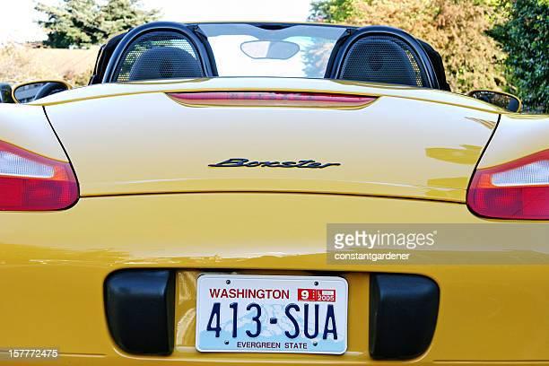 Amarillo Porsche Boxster Sports Car