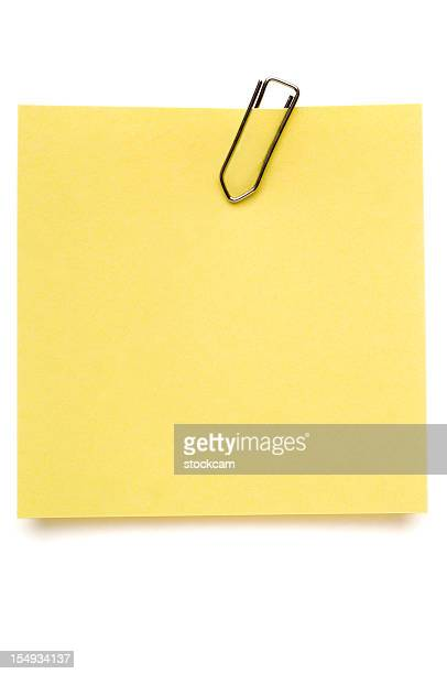 Yellow Post-it Note on white