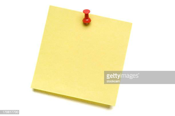 Yellow Post-it with Push Pin