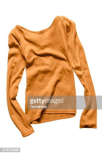 Yellow pullover isolated : Stock Photo
