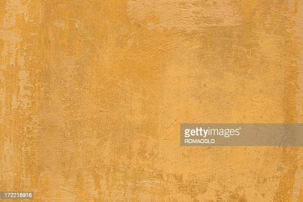 Gelbe Roman grunge Wand Textur Hintergrund, Rom, Italien