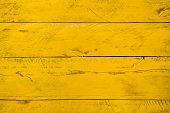 Yellow wood background planks