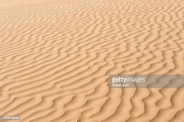 Yellow sand with ripple marks in a desert, Sahara, Southern Tunisia, Tunisia, Maghreb, North Africa, Africa