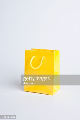 Yellow shopping bag